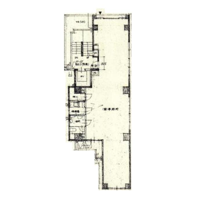 名駅4 茗荷ビル 平面図