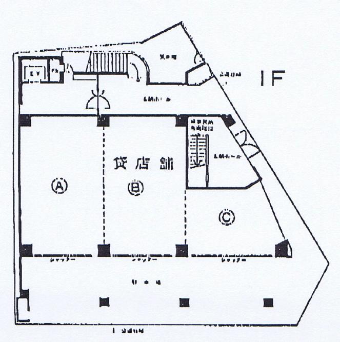 椿町 しらさぎビル 平面図