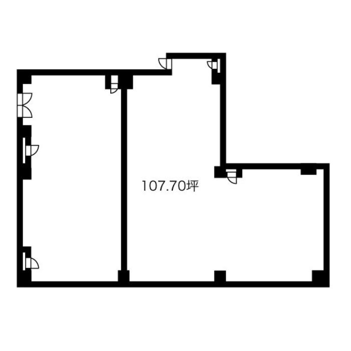 名駅5 名駅D-1ビル 平面図