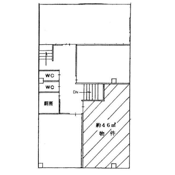 鳥居通4 第2鳥居ビル 平面図
