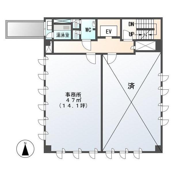 亀島2 大升ビル 平面図