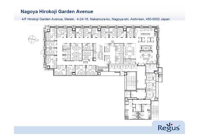名駅4 リージャス名古屋広小路センター(広小路ガーデンアベニュー内) 平面図