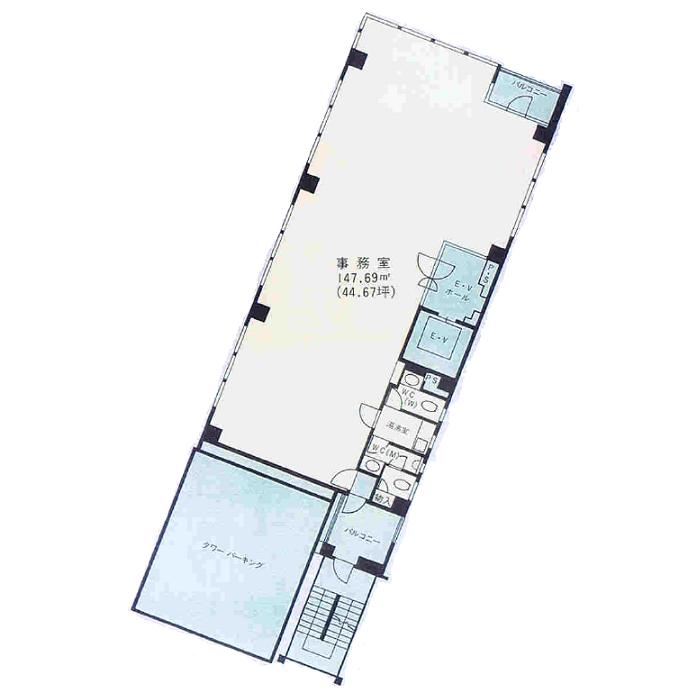 錦3 錦センタービル 平面図