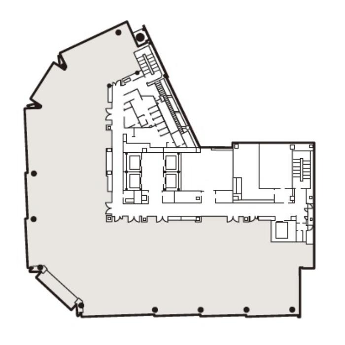 名駅4 (仮称)名古屋三井ビルディング北館 平面図