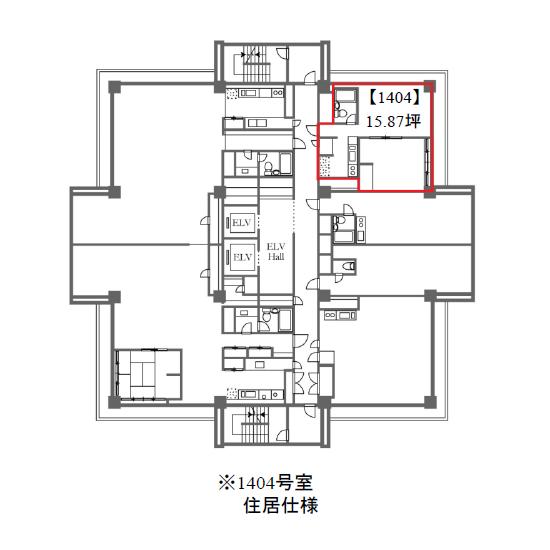 新栄2 雲竜フレックスビル西館 平面図