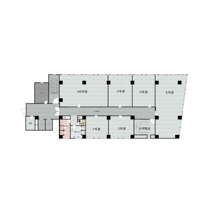 東大曽根町 共栄ビル 平面図
