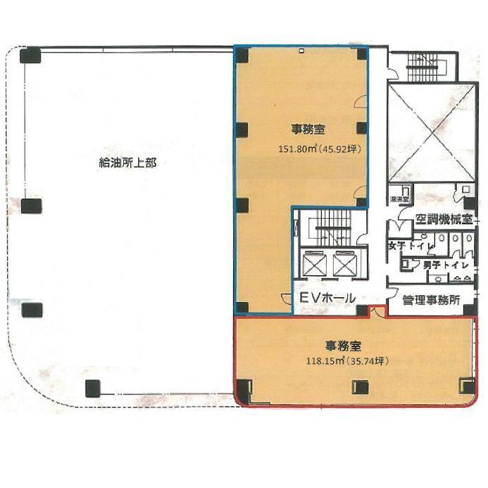 新栄町 栄中央ビル 平面図