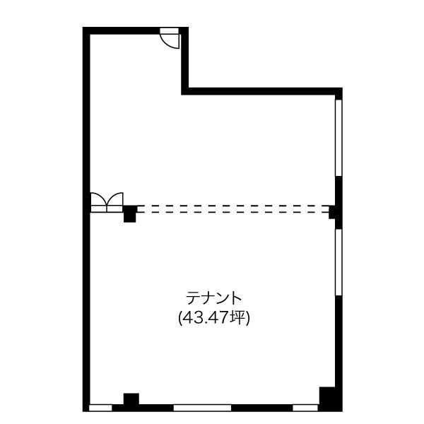 今池3 三貴ビル 平面図