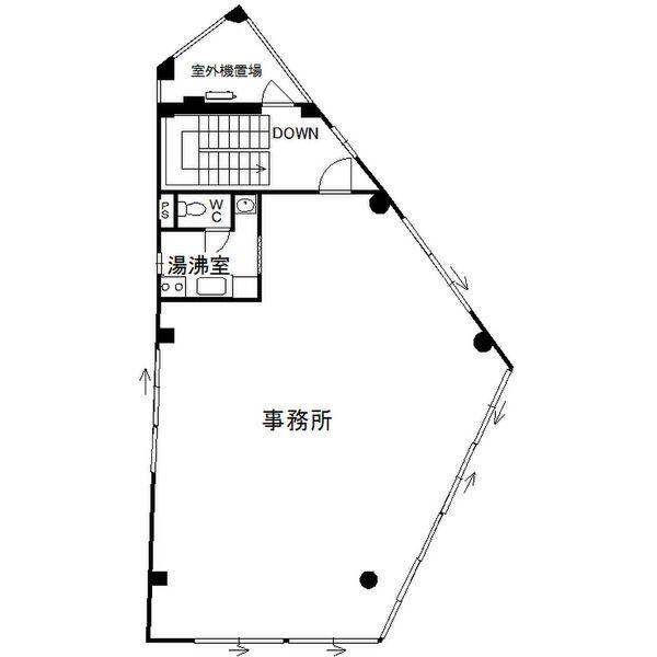 山田1 ファースト日比野ビル 平面図